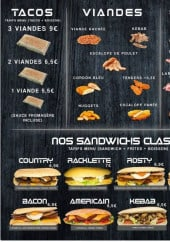 Menu Chez oit what - Tacos, viandes, sandwiches...