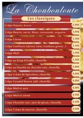 Menu La Choubouloute - Crêpes