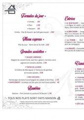 Menu La Chichoumeille - Les formules du jour, menu express, grandes assiettes...