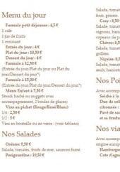 Menu O'cosy - Les menus, salades...