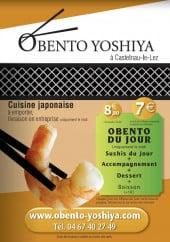 Menu Obento Yoshiya - La carte et Menus du Obento