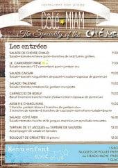 Menu Cote Mer - Les spécialités