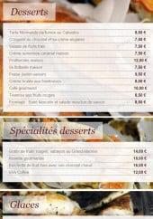 Menu L'ombrine - Les desserts