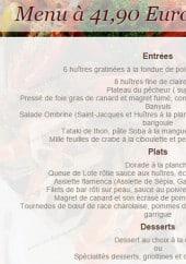 Menu L'ombrine - Le menu a 41.90