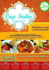 Menu Cap. india - La carte