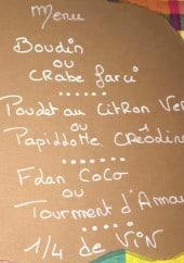 Menu L'Agathillaise - Un exemple de menu