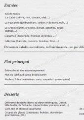 Menu Le Boréal - Les entrées, plats et desserts