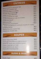 Menu Le Saïgon - Les entrées, soupes,....