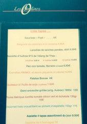 Menu Les Ondines - Côté tapas
