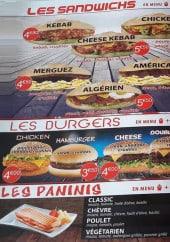 Menu Snack le seven - Sandwiches, burgers et paninis