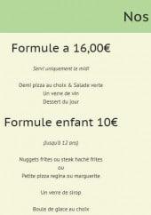 Menu Le Provence - les formules