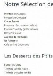 Menu Le Provence - les desserts