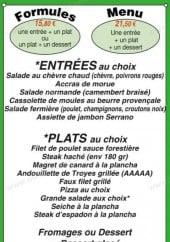 Menu Capucine's - Les formules et menus