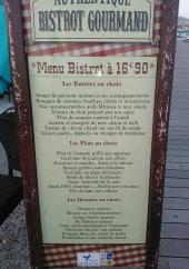 Menu Le Bistrot Gourmand - Exemple de menu