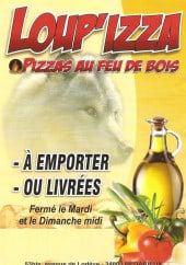 Menu Loup'izza - Carte et menu Loup'izza Bedarieux