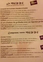 Menu Le Phénicien - Les mezzes