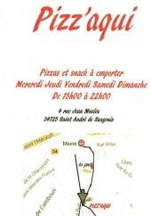 Menu Pizz'aqui - Carte et menu Pizz'aqui Saint Andre de Sangonis