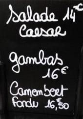 Menu Le Danali - Exemple de menu