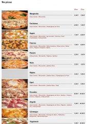 Menu Angello Pizza - les pizzas