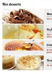 Menu Angello Pizza - les desserts