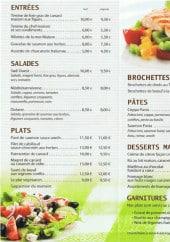 Menu L'assiette Volante - Les entrées, les salades, les plats...