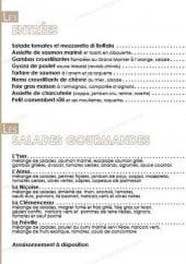 Menu Le Coin Du Monde - Les entrées et salades
