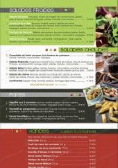Menu Le Continental - Les salades, les pâtes et viandes