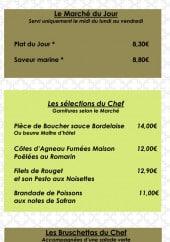 Menu Le Victoria - Marché du jour, bruschettas et suggestion du chef