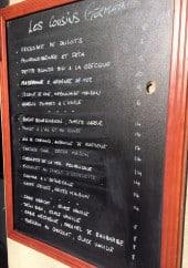 Menu Les Cousin Germain - Exemple de plats