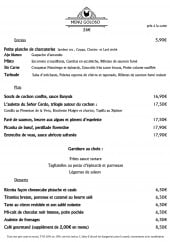 Menu Picotta - Menu