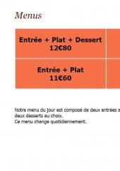 Menu Restaurant du Parc - Les formules