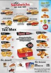 Menu Burger Time - Sandwiches, tex mex, tapas,...
