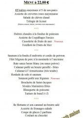 Menu L' huitrière - Le menu à 22€