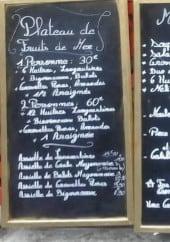 Menu La houle - Le plateau et menus