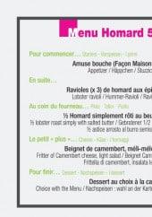 Menu La Maison Blanche - Le menu Homard 59,9€