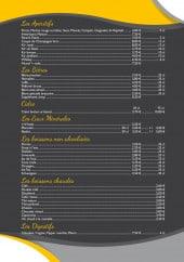 Menu Le phare - Les apéritifs, bières, cidre,...