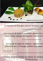 Menu Le haute sève - La tranche de foie gras,les noix de saint jacques snackés,...