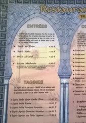 Menu Restaurant Le Djerba - Les entrées, tajines, coucous...