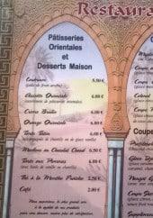 Menu Restaurant Le Djerba - Les desserts