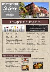 Menu La Levée - Carte et menu La Levée Betton