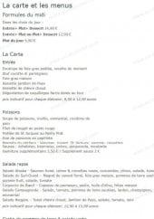 Menu Villa Modena - Les formules