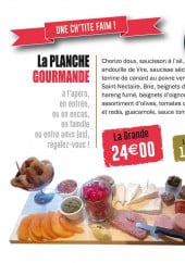 Menu La Gamelle - La planche gourmande