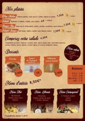 Menu Sanora pizza - Les plaisirs, les menus, les desserts ...
