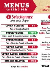 Menu Upper Burger - Les burgers à composer