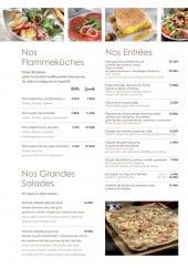Menu Les Relais d'Alsace - Les entrées, flammeküches et salades