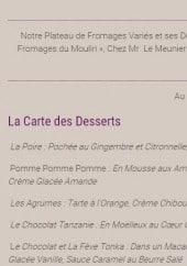 Menu Restaurant de la Liodière - Les formules gourmandes du restaurant (suite)