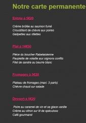 Menu Le P'tit Bouchon - Entrées, plats, fromages et desserts