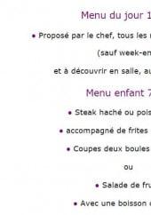 Menu La Petite Auberge - Le menu du jour et le menu enfant