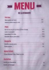 Menu La Guinguette - Entrées, plats, desserts,....