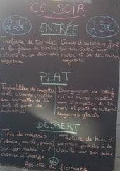 Menu Au clair de Lune - Extrait de menu